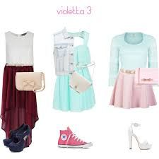 Love these outfits Teen Girl Fashion, Cute Fashion, Violetta Outfits, Chic Outfits, Girl Outfits, Bobs, Cute Summer Outfits, Types Of Fashion Styles, Dress To Impress