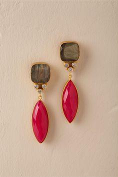 BHLDN's Izzy Gemstone Earrings in Gold