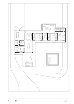 Gallery of Salto House / AMZ Arquitetos - 12 New House Plans, Modern House Plans, House Floor Plans, Architecture Drawings, Architecture Plan, L Shaped House, Architectural Floor Plans, Casa Patio, H & M Home