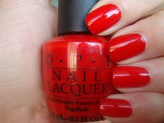 """Big Apple Red"" Just recently discovered this is my new favorite color for my mani/pedi's. the best! Go figure!"