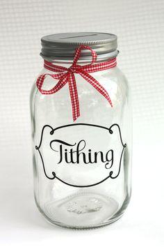 Tithing Jar Bank great baptism gift, young women's, priesthood.