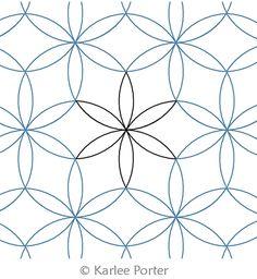 Digital Quilting Design Interlocked Orange Peel by Karlee Porter. Quilting Stitch Patterns, Machine Quilting Patterns, Quilt Stitching, Zentangle Patterns, Quilt Patterns, Sewing Patterns, Quilting Stencils, Longarm Quilting, Free Motion Quilting