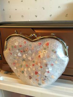 heart shape gamaguchi purse