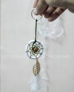 Dreamcatcher leaf charm keychain Colors can be customized.. • Ring size: 3-4cm Price: 120/-(shipping excluded) Dm for details #diydreamcatcher #dreamcatcher #love #catchthydreams #makeinindia #mumbai #keychain #dreamcatcherkeychain #diy #handmade #buyhandmade #customerdiaries