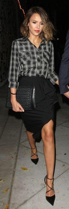 Jessica Alba's date night style.