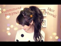 ▶ Voluminous Ponytail Hair Tutorial - YouTube