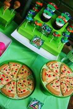 Fiesta temática de las Tortugas Ninja para niño – Ideas para Decoracion
