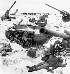 A graveyard of German, tanks, guns, and personnel litter a snowy landscape outside Stalingrad: December 1942 Bataille De Stalingrad, Eastern Front Ww2, Battle Of Stalingrad, Ww2 Photos, Rare Photos, Military Pictures, Red Army, Korean War, German Army