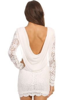 beautiful white lace dress 23.66