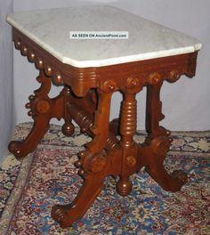 ... Renaissance Walnut Marble Table Thomas Brooks 1800-1899 photo 1
