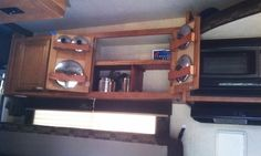 RV Cookware Storage Idea for Behind Cabinet Doors