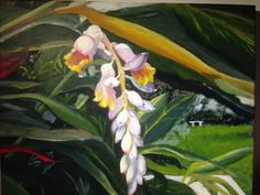 Ginger flower, Charmaine Lim 2016 Acrylic on canvas