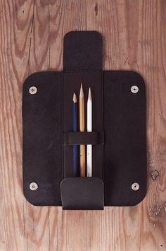 Leather Pencil Case Black