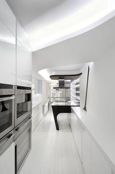 Великолепные футуристические интерьеры по-серо архитектуры — усадьбы в стиле