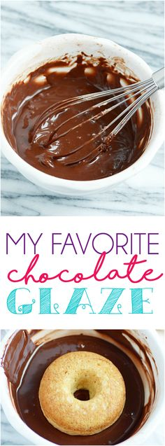 This EASY chocolate glaze is perfect for donuts, cookies, cakes, cupcakes, and more! ~ Shugary Sweets