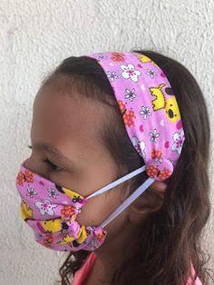 Easy Face Masks, Face Masks For Kids, Diy Face Mask, Mouth Mask Design, Crochet Mask, Homemade Mask, Fabric Headbands, Creation Couture, Diy Headband