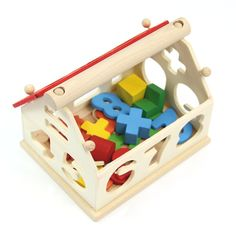 """Find More Model Building Kits Information about Z101""""Kid Baby Wooden Digital Number House Building Toy Educational Intellectual Block,High Quality toy story party theme,China block cutter Suppliers, Cheap toy group from Julia's 2014  store on Aliexpress.com"""
