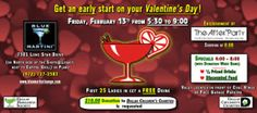 """DMS Happy Hour at Blue Martini Friday Feb 13th, 2015  Get an early start on your Valentine's Day!  Join the Dallas Margarita Society at the Blue Martini in the Shops@Legacy in Plano!  First 25 Ladies in get a Free Drink!  Entertainment by """"The After Party"""" starting at 8:00pm"""