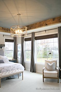 Cozy tray ceiling makeover in the master ( minwax jacobean stain) bedroom ceiling Cozy tray ceiling makeover in the master Bedroom Furniture, Bedroom Decor, Bedroom Ideas, Metal Furniture, Tray Ceiling Bedroom, Kitchen Furniture, Luxury Furniture, Bedroom Plants, Furniture Nyc