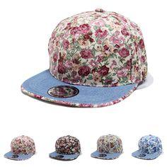 Encontrar Más Gorras de béisbol Información acerca de Hombres Snapback del  béisbol gorras deportivas moda Hip Hop ajustables florales gorra plana para  ... 31a308068b7