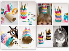 Looking for some great indoor activities to keep your child busy? Here's 31 great crafts for kids to try! Kids Crafts, Crafts For Kids To Make, Creative Crafts, Easy Crafts, How To Make, Activity Games For Kids, Kool Kids, Pink Parties, Party Activities