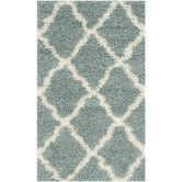 Found it at Wayfair - Dallas Shag Light Blue/Ivory Area Rug