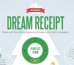 Kohl's Dream Receipts $5,000 Sweepstakes – kohls.com/dreamreceipt