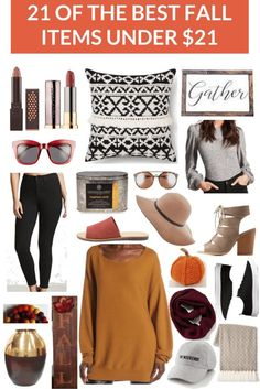 21 Fall Items Under