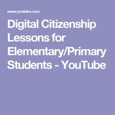 Digital Citizenship curriculum videos for students in grades and Digital Citizenship Lessons, Cyber Safety, Internet Safety, Computer Lab, Doll Stuff, After School, Mathematics, Curriculum, Computers