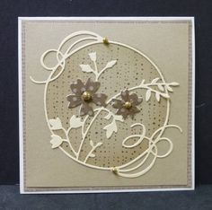 *CAS206 TLC415 Encircled Flowers by hobbydujour - Cards and Paper Crafts at Splitcoaststampers