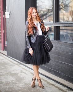Amore Tulle Midi Skirt in Black - Tulle Skirt - Trend and Style - Retro, Indie and Unique Fashion