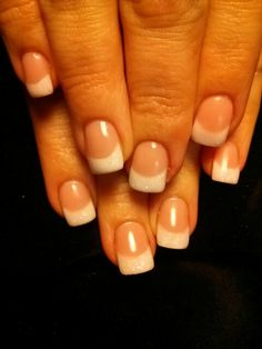 Classic pink and white with a little sparkle! Nails by: Lashara. @LaShara Davis