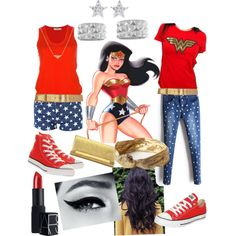 Wonder Woman inspired outfit created by lizzyloveshk19
