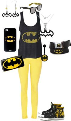 """Batman - would wear all of this, but probably not at the same time. there is such a thing as overkill<<< you can never go over kill when ur """"BATMAN"""" Batman Love, Batman And Superman, Batman Stuff, Super Hero Outfits, Cool Outfits, Party Outfits, Edgy Outfits, Batgirl, Nananana Batman"""