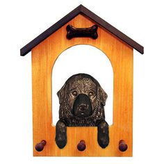 Dog Lover Products 116378: Newfoundland Dog House Leash Holder BUY IT NOW ONLY: $69.95