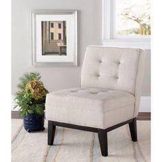 Safavieh Angel Armless Club Chair, Linen, Beige