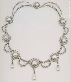 Queen Alexandra's Pearl and Diamond Necklace from her Wedding Parure