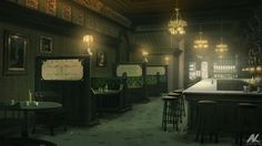 Cosy bar by *adamkuczek on deviantART