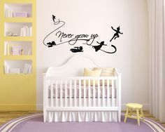 Never Grow Up Wall Decal