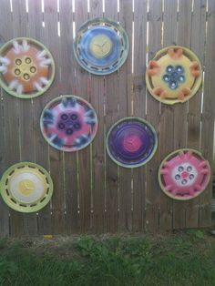 the start of my hubcap flowers