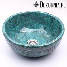 Turquoise basin, original sink, handmade washstand, ceramics #washbasin #sink #handmade #umywalka #turkus #recznierobione #dekornia