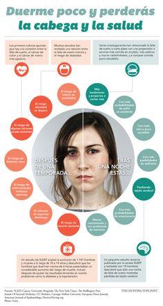 ... Duerme poco y perderás la cabeza y la salud. #infografias #salud