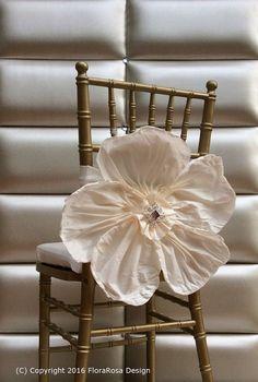 Ceinture de chaise grande fleur. Frais de port.