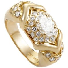bulgari diamond gold ring liked on polyvore featuring jewelry rings 18k ring