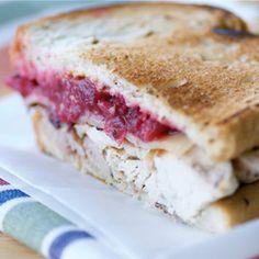 Turkey, Cranberry, and Gruyere Sandwich - Turkey Leftovers #ModernThanksgiving