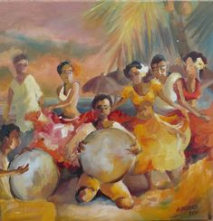 """Sega au Bord du Lagon"" in Mauritius by Anne Delplace"