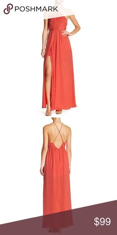 Stylestalker phoebe maxi dress Details  - Halter neck - Sleeveless - Back partial hidden zip closure - Front cutout embellishments - 2 front slits with overlay fabric embellishments - Approx. 59? length - Imported?  Fiber Content100% polyester Stylestalker Dresses Maxi