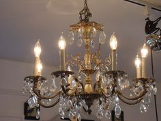 Vintage chandelier by athomeMT on Etsy, $385.00