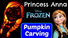 Kid Friendly TV pumpkin carving Princess Anna from the Disney Frozen movie! This is a great pumpkin carving idea for everyone that loves Disney Frozen! Frozen Kids, Frozen Movie, Anna Frozen, Frozen Princess, Princess Anna, Anna Disney, Disney Frozen, Frozen Pumpkin Carving, Frozen Halloween