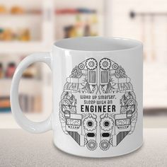 WITH THIS MUG, YOU CAN MAKE YOUR ENGINEER FRIEND LIGHT UP WITH DELIGHT! If you're looking for a gift that your awesome engineer friend will actually use and enjoy for years to come, then check out this Funny Engineer Mug! #Etsy #EtsyMugs #SuchMugs